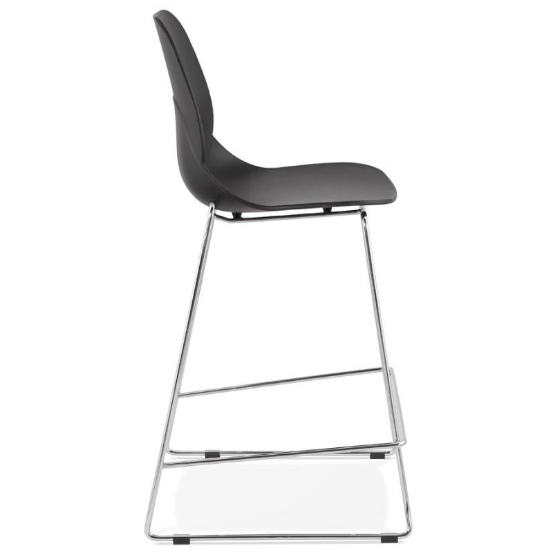 Tabouret de bar chaise de bar mi-hauteur design empilable JULIETTE MINI (noir) - image 46564
