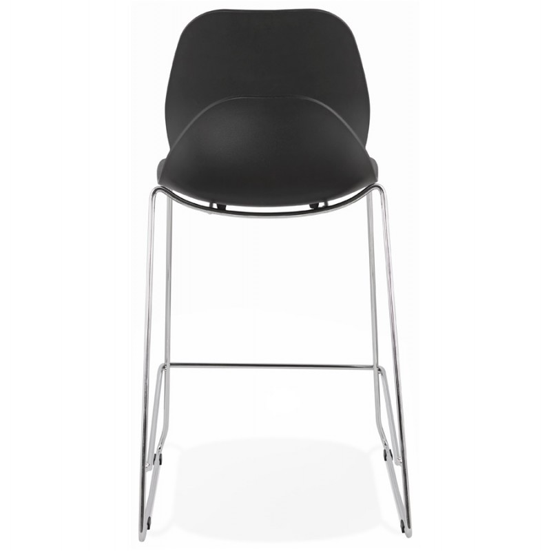 Tabouret de bar chaise de bar mi-hauteur design empilable JULIETTE MINI (noir) - image 46566
