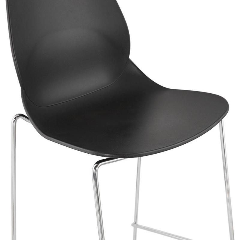 Tabouret de bar chaise de bar mi-hauteur design empilable JULIETTE MINI (noir) - image 46568