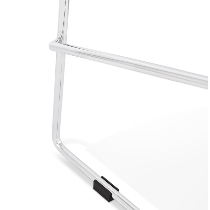 Design stackable bar stool with chromed metal legs JULIETTE (black) - image 46614