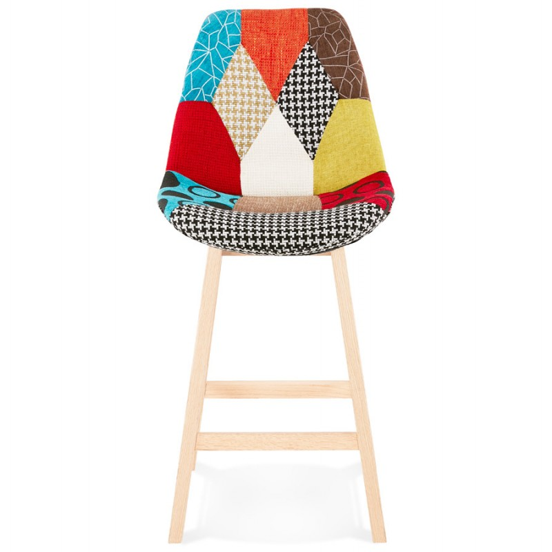 Tabouret de bar mi-hauteur bohème patchwork en tissu MAGIC MINI (multicolore) - image 46630