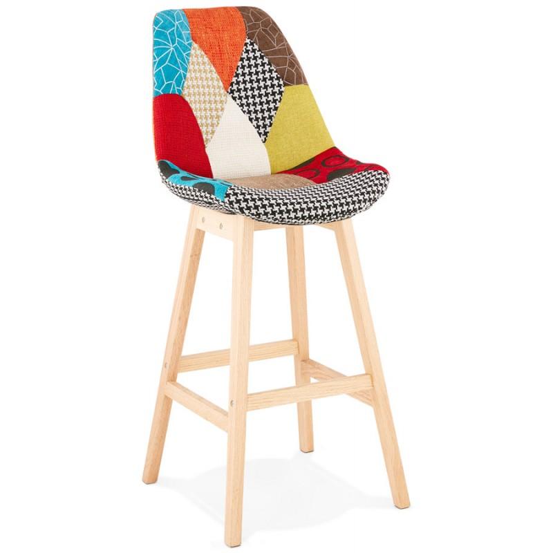 Tabouret de bar chaise de bar bohème patchwork en tissu MAGIC (multicolore) - image 46644