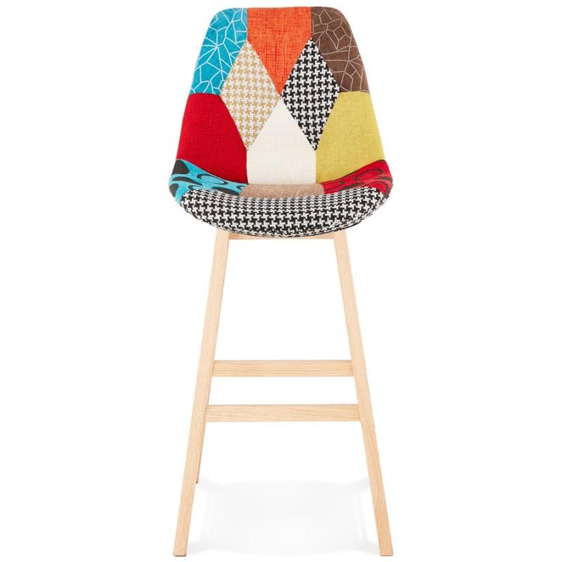 Sgabello da bar bohemien patchwork in tessuto MAGIC (multicolore) - image 46645