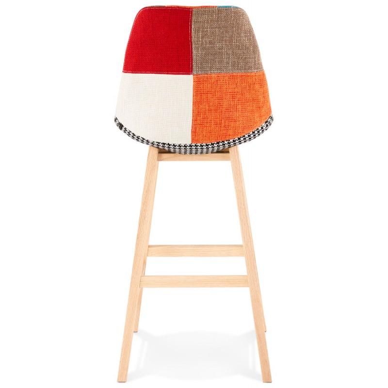 Tabouret de bar chaise de bar bohème patchwork en tissu MAGIC (multicolore) - image 46648