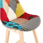 Tabouret de bar chaise de bar bohème patchwork en tissu MAGIC (multicolore)