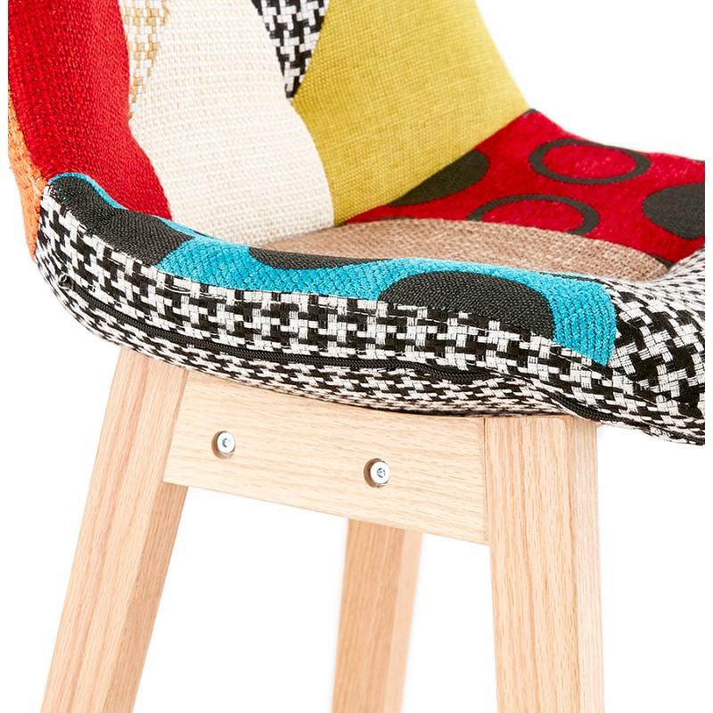 Tabouret de bar chaise de bar bohème patchwork en tissu MAGIC (multicolore) - image 46654
