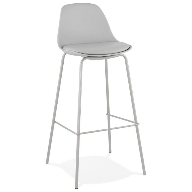 Bar stool industrial bar chair with light gray legs OCEANE (light gray)