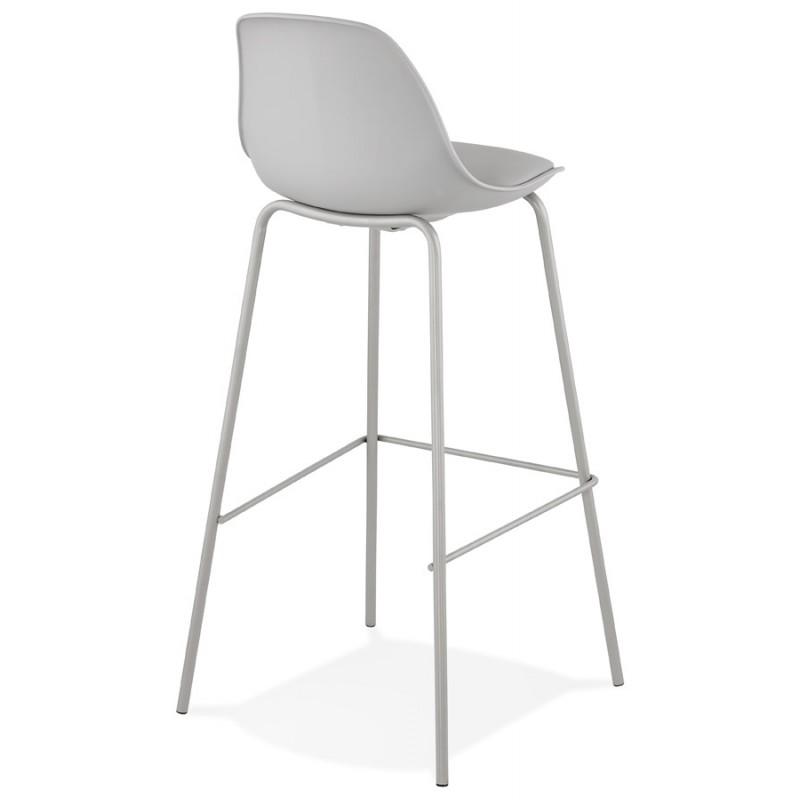 Bar stool industrial bar chair with light gray legs OCEANE (light gray) - image 46677