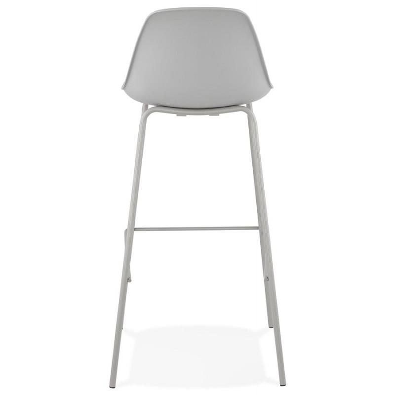 Bar stool industrial bar chair with light gray legs OCEANE (light gray) - image 46678