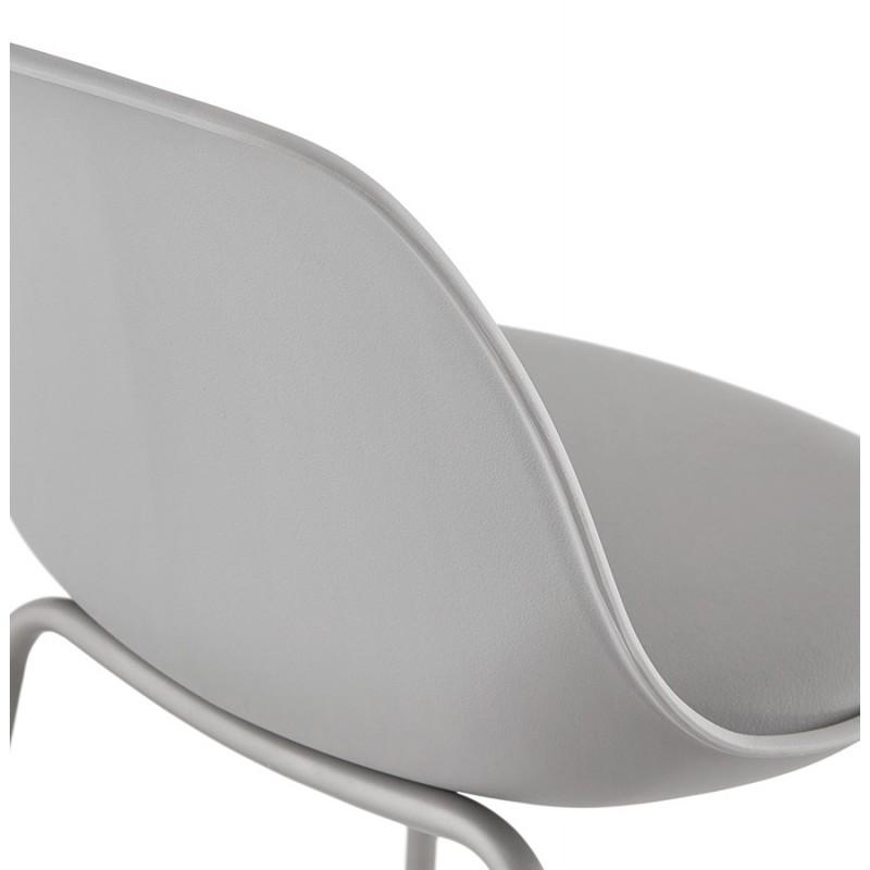Bar stool industrial bar chair with light gray legs OCEANE (light gray) - image 46682