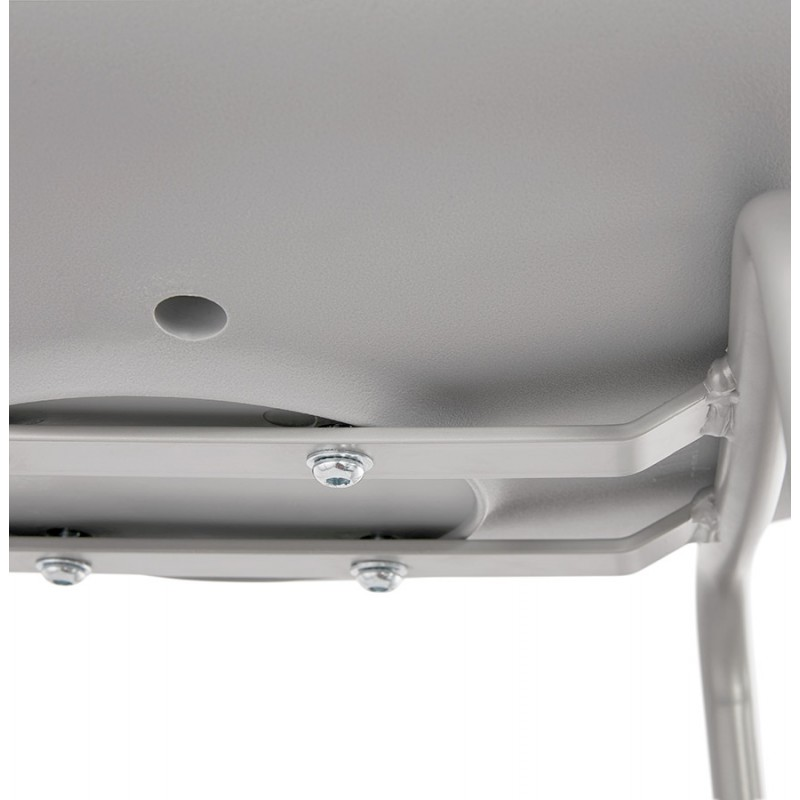 Bar stool industrial bar chair with light gray legs OCEANE (light gray) - image 46684