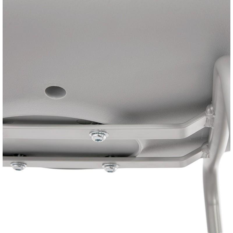 Tabouret de bar chaise de bar industriel pieds gris clair OCEANE (gris clair) - image 46684