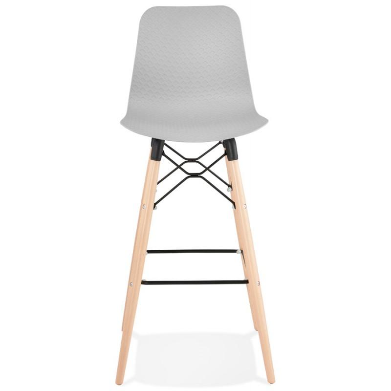 Sgabello barra di design scandinavo FAIRY (grigio chiaro) - image 46690