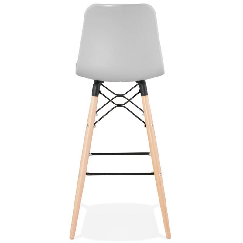 FAIRY Scandinavian design bar stool (light grey) - image 46693