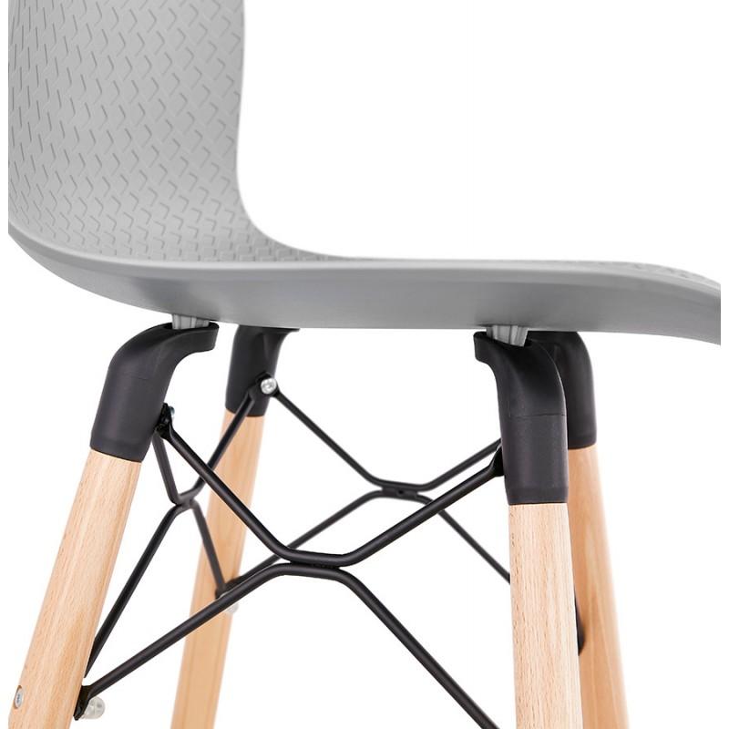 Fairy Taburete de barra de diseño escandinavo (gris claro) - image 46697
