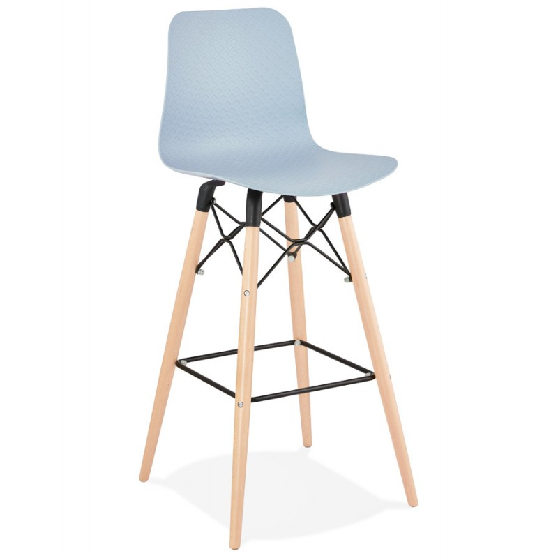 Tabouret de bar design scandinave FAIRY (bleu clair) - image 46719
