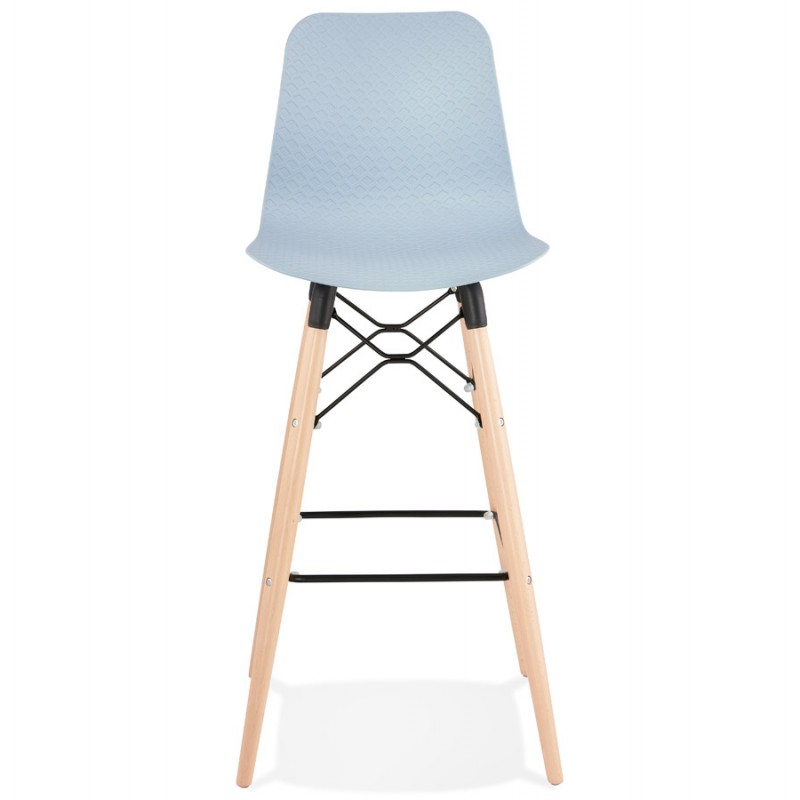 Tabouret de bar design scandinave FAIRY (bleu clair) - image 46720