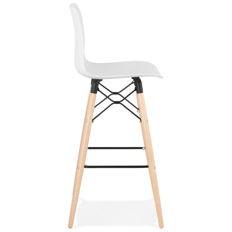 Tabouret de bar design scandinave FAIRY (blanc) - image 46736