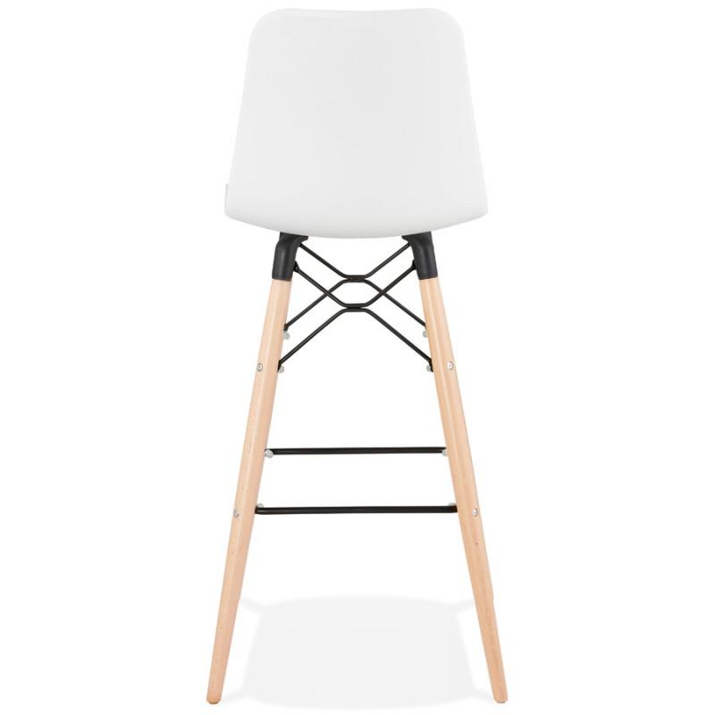Tabouret de bar design scandinave FAIRY (blanc) - image 46738