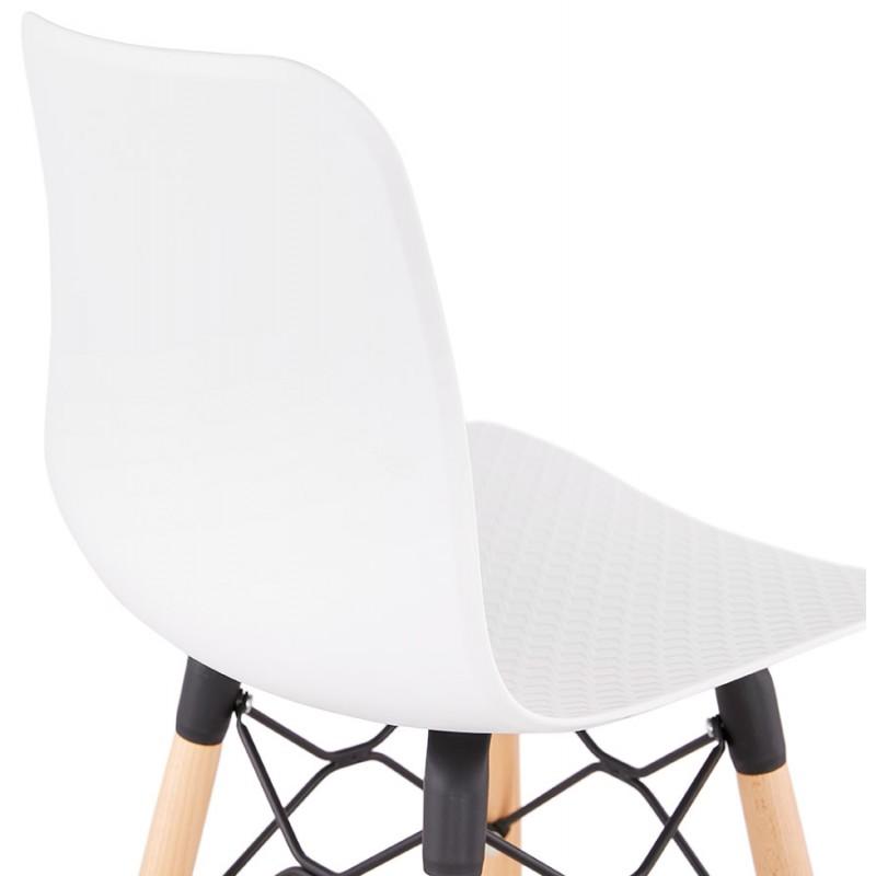 Tabouret de bar design scandinave FAIRY (blanc) - image 46743