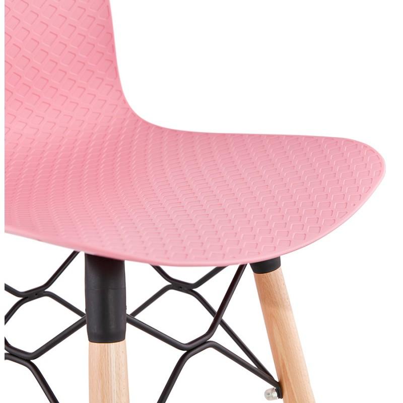 Tabouret de bar design scandinave FAIRY (rose) - image 46756