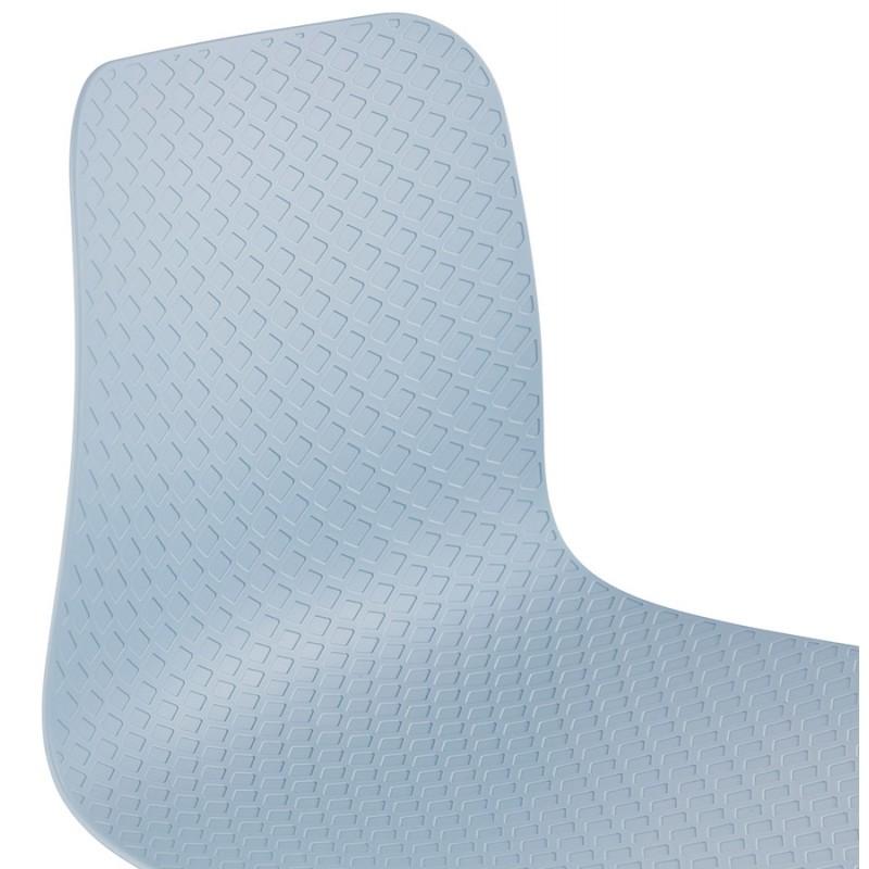 Tabouret de bar mi-hauteur scandinave FAIRY MINI (bleu clair) - image 46799