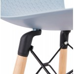 Tabouret de bar mi-hauteur scandinave FAIRY MINI (bleu clair)