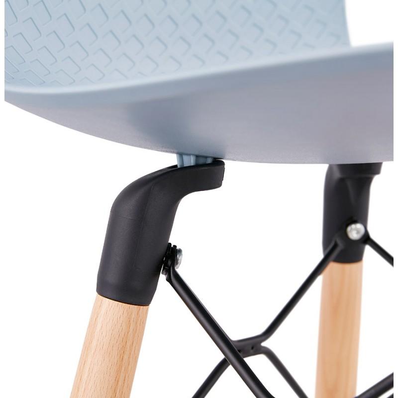 Tabouret de bar mi-hauteur scandinave FAIRY MINI (bleu clair) - image 46804