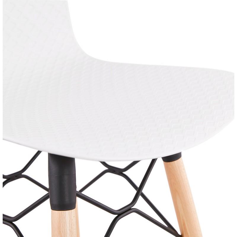 Tabouret de bar mi-hauteur scandinave FAIRY MINI (blanc) - image 46816