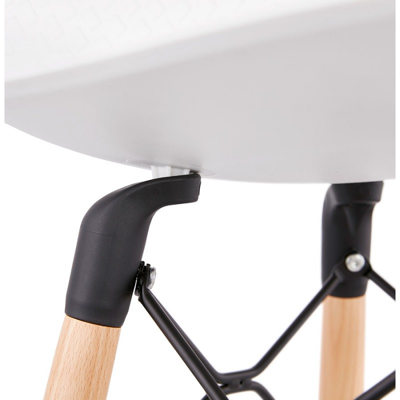 Tabouret de bar mi-hauteur scandinave FAIRY MINI (blanc) - image 46819