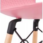 Tabouret de bar mi-hauteur scandinave FAIRY MINI (rose)