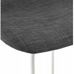 Small-height bar stool in white metal foot fabric CUTIE MINI (anthracite grey)