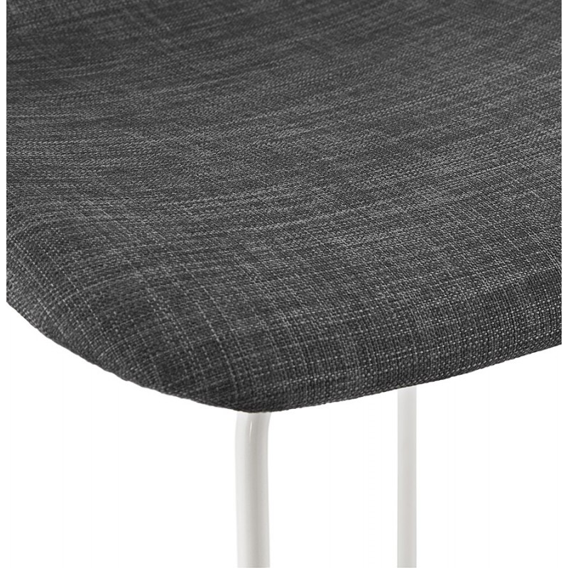 Small-height bar stool in white metal foot fabric CUTIE MINI (anthracite grey) - image 46845