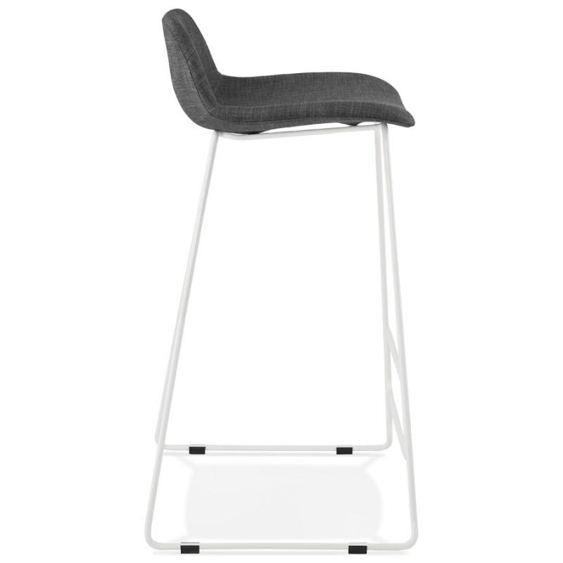 Tabouret de bar chaise de bar en tissu pieds métal blanc CUTIE (gris anthracite) - image 46853