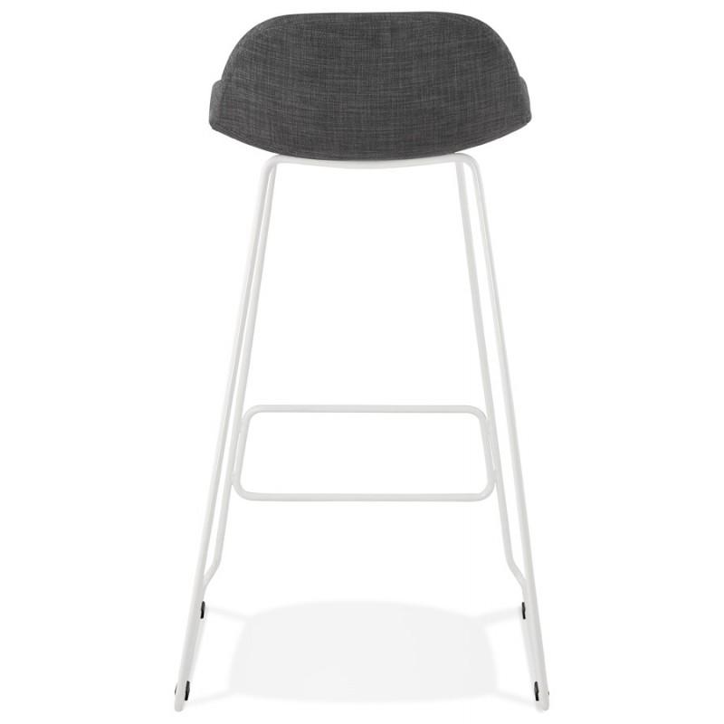 Tabouret de bar chaise de bar en tissu pieds métal blanc CUTIE (gris anthracite) - image 46855
