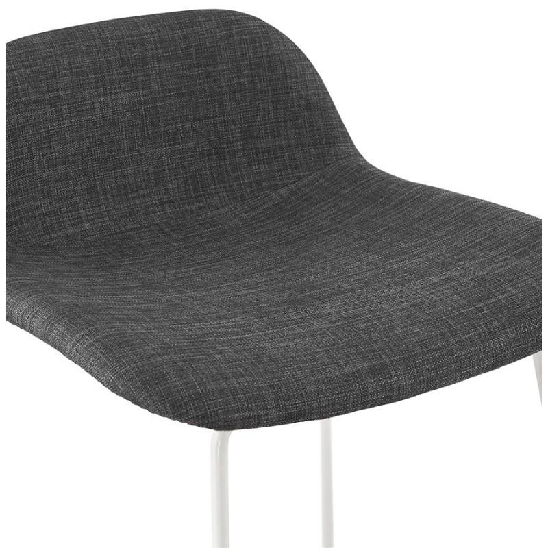 Tabouret de bar chaise de bar en tissu pieds métal blanc CUTIE (gris anthracite) - image 46856