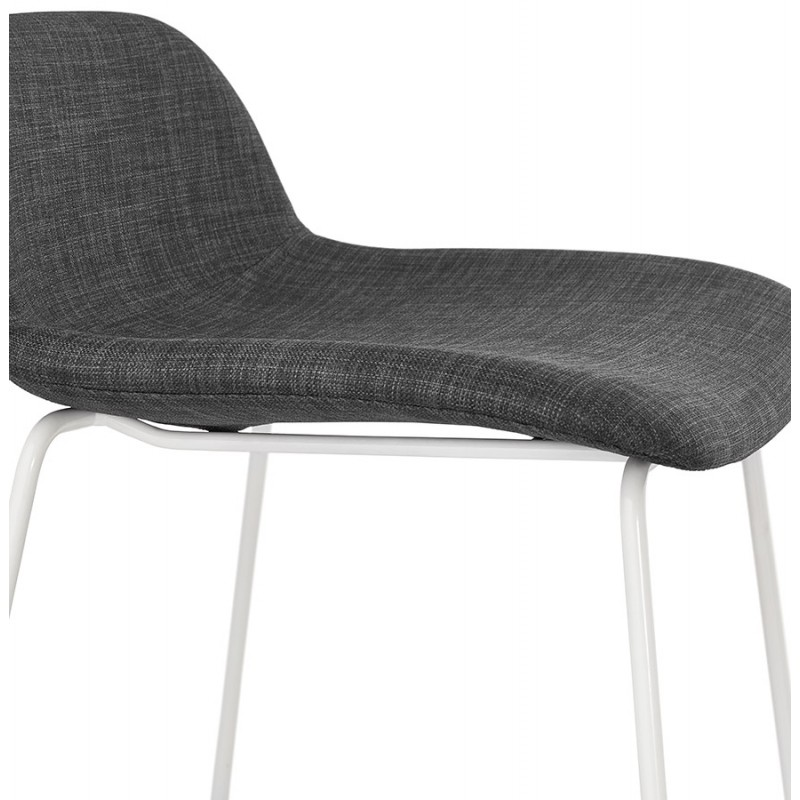 Tabouret de bar chaise de bar en tissu pieds métal blanc CUTIE (gris anthracite) - image 46859