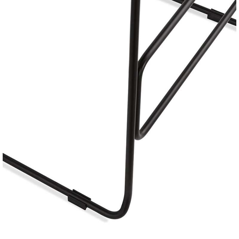 Industrial bar chair bar stool in black metal legs CUTIE (anthracite gray) - image 46885