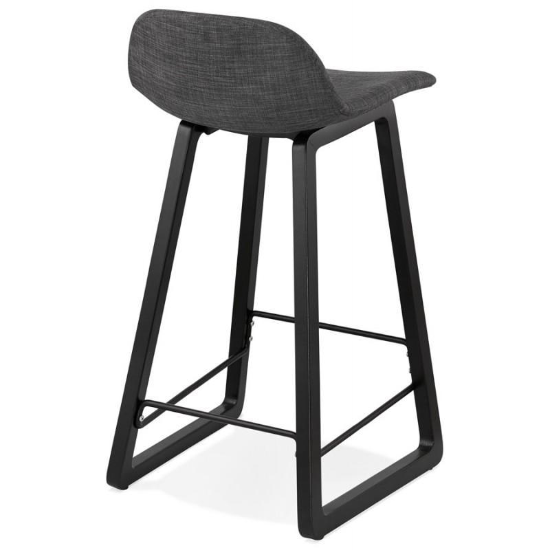 Industriale bar pad a media altezza in tessuto piede in legno nero MELODY MINI (grigio antracite) - image 46890