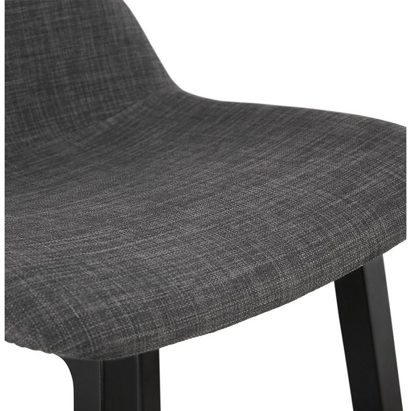 Industriale bar pad a media altezza in tessuto piede in legno nero MELODY MINI (grigio antracite) - image 46893