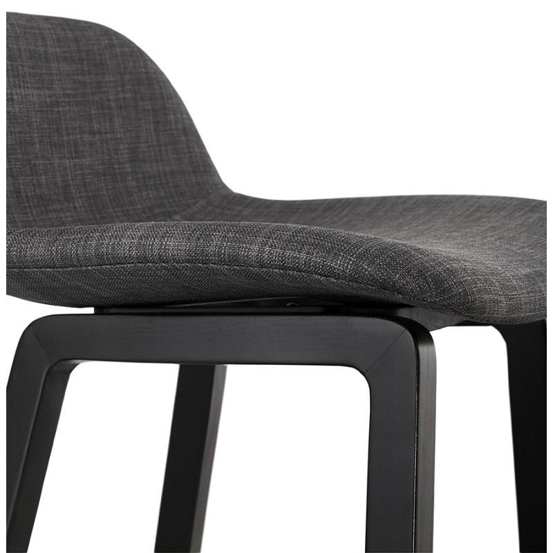 Industriale bar pad a media altezza in tessuto piede in legno nero MELODY MINI (grigio antracite) - image 46895