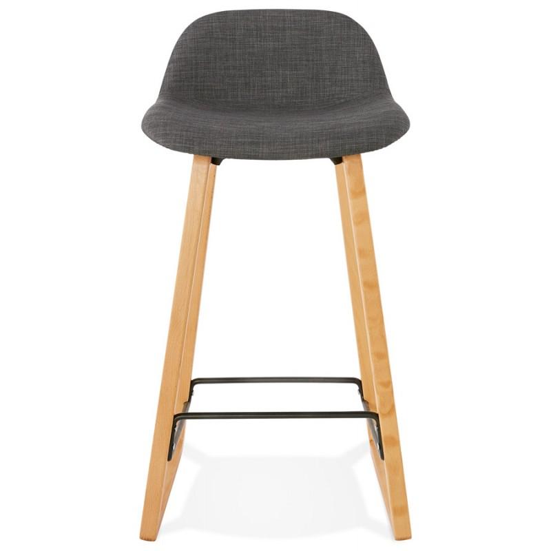 Pad bar scandinavo a media altezza in tessuto per piedi di colore naturale MELODY MINI (grigio antracite) - image 46900
