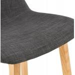 Pad bar scandinavo a media altezza in tessuto per piedi di colore naturale MELODY MINI (grigio antracite)