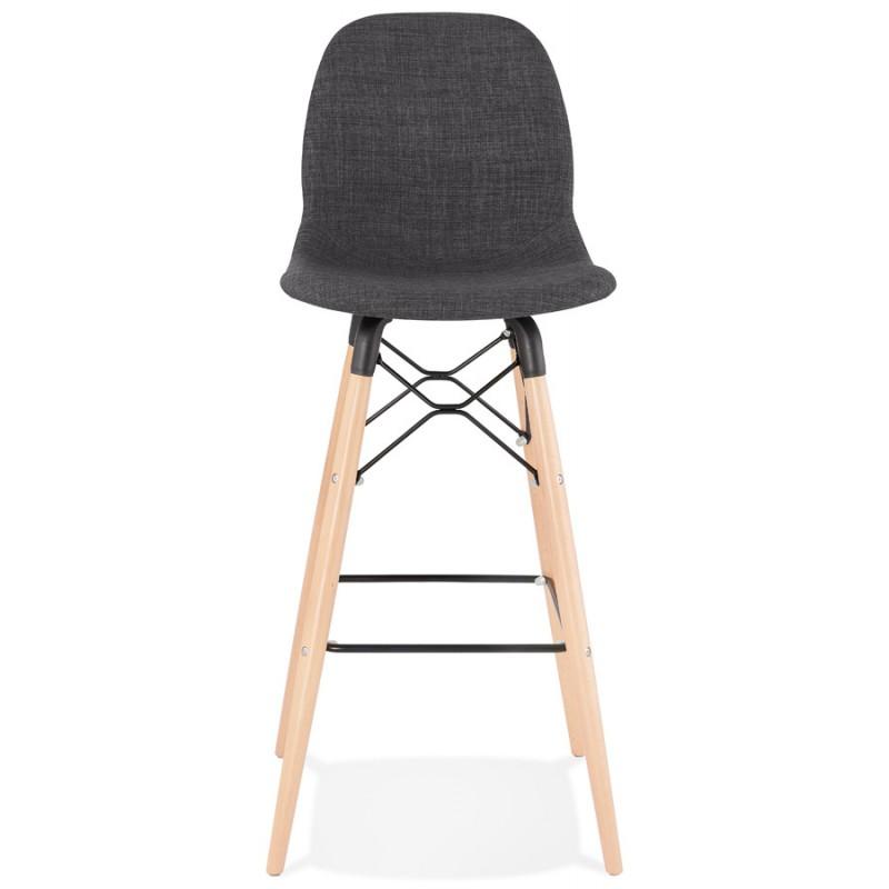 Tabouret de barra de diseño escandinavo en tejido PAOLO (gris oscuro) - image 46913