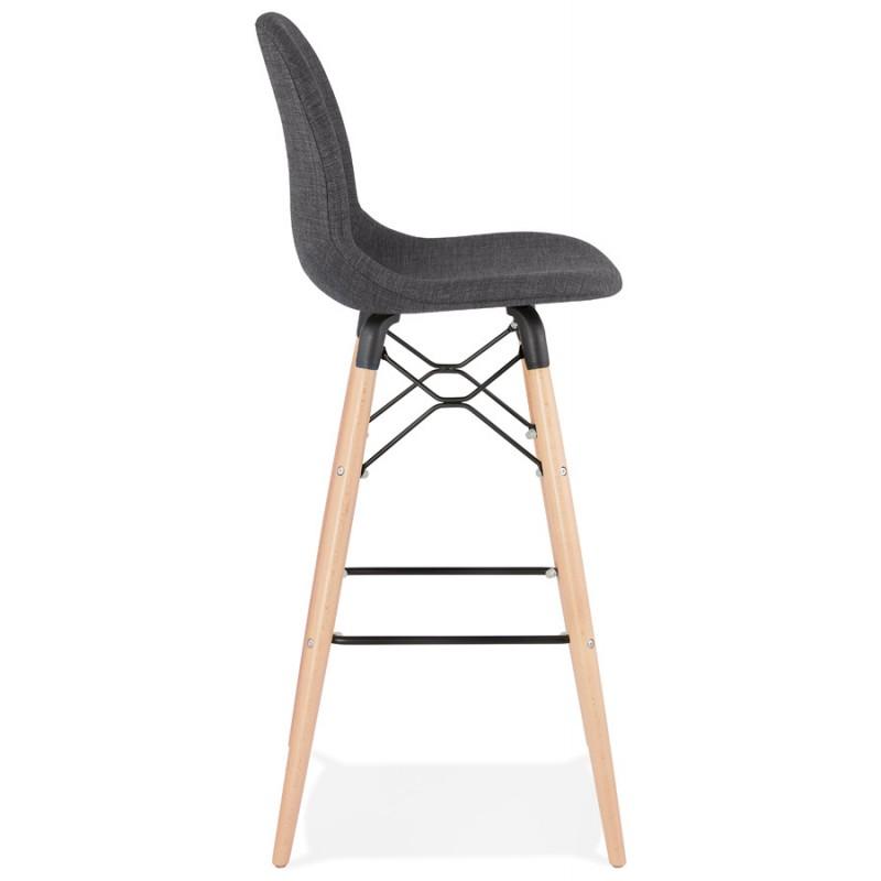 Skandinavische Design Bar Tabouret aus PAOLO Stoff (dunkelgrau) - image 46914