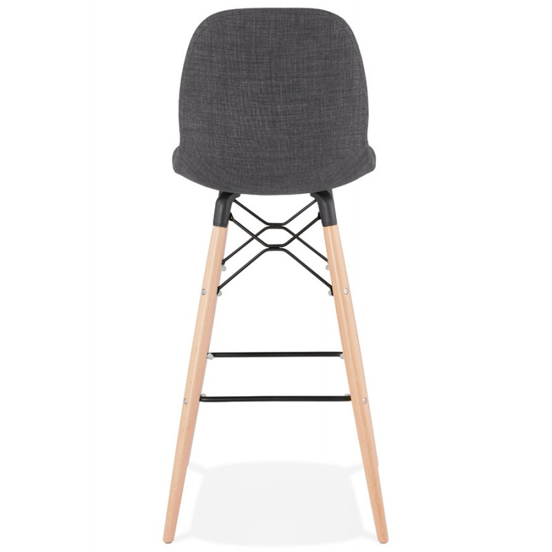 Tabouret de barra de diseño escandinavo en tejido PAOLO (gris oscuro) - image 46916