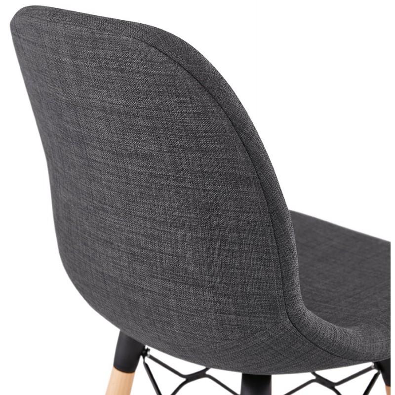 Skandinavische Design Bar Tabouret aus PAOLO Stoff (dunkelgrau) - image 46918