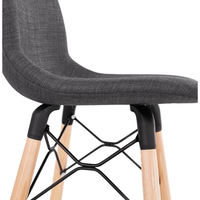 Tabouret de bar design scandinave en tissu PAOLO (gris foncé) - image 46922