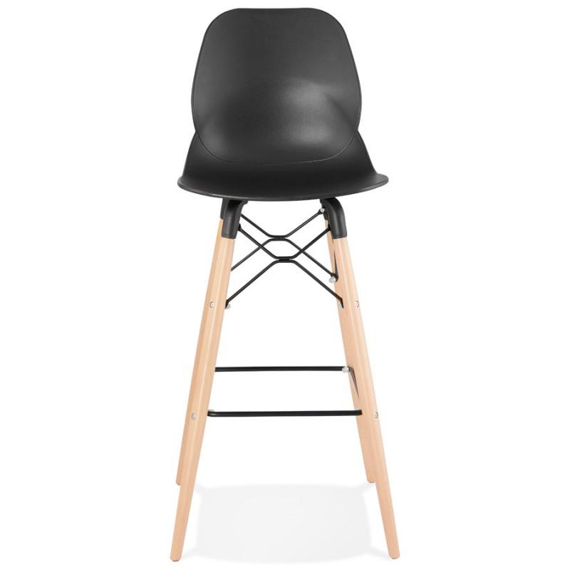 Taburete de barra de diseño escandinavo PACO (negro) - image 46928
