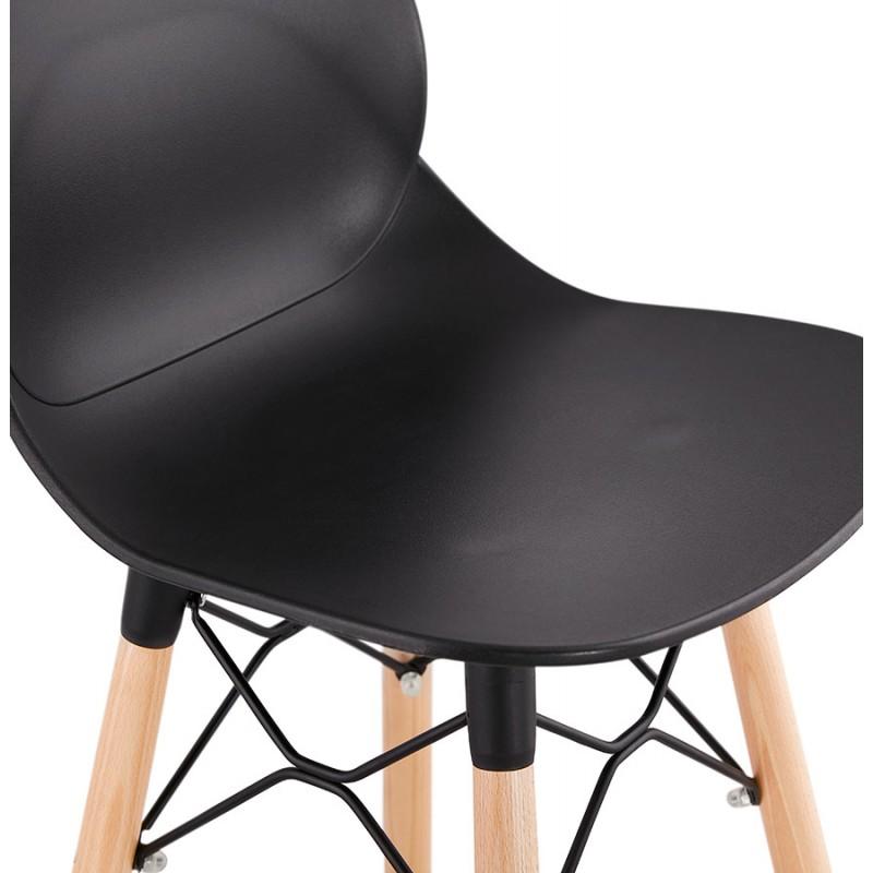 Taburete de barra de diseño escandinavo PACO (negro) - image 46934